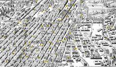 La traza: es la forma en que se disponen las calles con las manzanas, además de la relación que guardan con los demás elementos como las plazas, glorietas, etc.  La mayoría de las veces la traza urbana obedece a las características del suelo donde se asienta el lugar. City Maps, Spanish Colonial, Historical Pictures, Mexico City, City Photo, The Neighbourhood, Mario, Architecture, Places