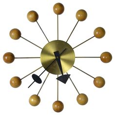 George Nelson Ball Clock for Howard Miller | From a unique collection of antique and modern clocks at https://www.1stdibs.com/furniture/decorative-objects/clocks/