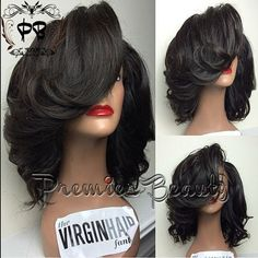 Freeshipping human hair wig Glueless full lace by PREMIERBEAUTY