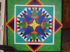 4' x 4 ' barn quilt by deb from barn quilts by deborah.com