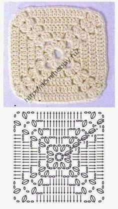 Love scrap use maybe that happens to all old knitters and crocheters lol jh crochet fox crochet gifts love crochet crochet granny crochet squares crochet lace crochet motif crochet stitches crochet patterns – ArtofitCal crochet in boom flower squar Motifs Granny Square, Crochet Motifs, Granny Square Crochet Pattern, Crochet Blocks, Crochet Diagram, Crochet Stitches Patterns, Crochet Chart, Crochet Squares, Crochet Granny