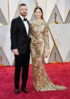 All The Red Carpet Fashion At The 2017 Oscars Justin Timberlake and Jessica Biel
