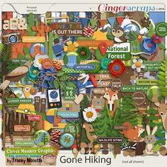 GingerScraps :: Bundled Goodies :: Gone Hiking Bundle by Clever Monkey Graphics