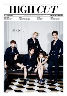 SHINee's Onew, Key, Minho & Taemin, with f(x) Victoira for 'High Cut' Magazine Preview 130417