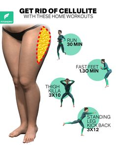 GET RID OF CELLULITE WITH THESE HOME WORKOUTS