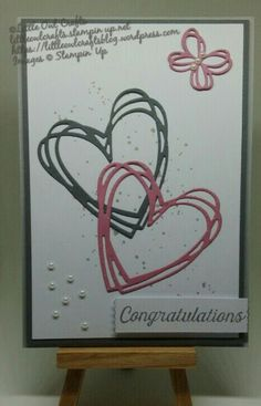 Anniversary Card using Sunshine Wishes by Stampin'Up