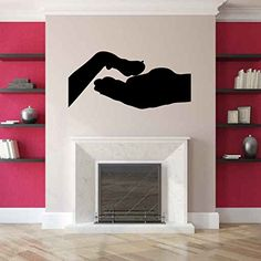 Hand and Dog Paw Vinyl Wall Decal Sticker Graphic. Measures 22 x 44 inches. Application instructions are included. Some decals may come in multiple pieces due to the size of the design.