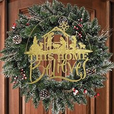 this home believes christmas decoration - Christian Christmas Decorations
