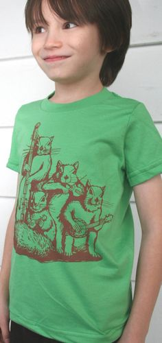 Squirrel Blue Grass Band Design on American by TypsyGypsyTees, $18.00