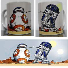 Caneca Star Wars - BB-8 & R2D2