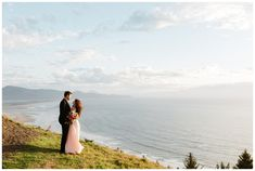 Oregon Coast engagement photos on a cliff in Oceanside, taken by Katy Weaver