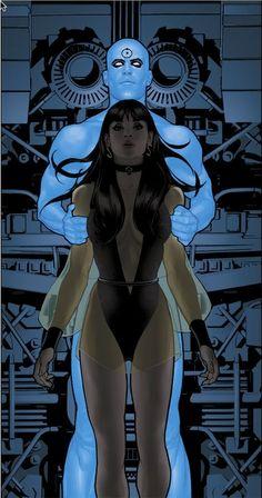 Before Watchmen comic book lot Dr Manhattan 1 Silk Spectre 3 & 4 DC Comics Comic Book Characters, Comic Book Heroes, Comic Character, Comic Books Art, Book Art, Adam Hughes, Hq Marvel, Marvel Dc Comics, Bad Comics