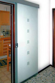 porta in vetro scorrevole cucina - Cerca con Google | porte tra ...