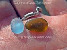 Sometimes putting two contrasting colors of sea glass together highlights seems to make the colors stand out