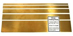 Brass Folding Strips Set of Five $19.95