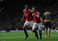 Manchester United 3 Arsenal 2: Marcus Rashford follows up his debut heroics with two first-half goals