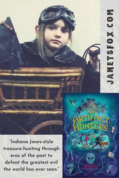 In ARTIFACT HUNTERS, Isaac Wolf can travel through time. But he's also in a race against it. He finds himself in a race against a threat just as deadly as the war itself–one that his parents had been trying to shield him from all along. #kidlit #literature #reading #middlegrade #teacherguide #steampunk #scary Life Affirming, Kids Writing, Indiana Jones, Hunters, Time Travel, Librarians, Scary, Literature, Steampunk