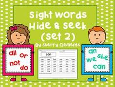 """Sight Words Hide & Seek (Set 2) GIVEAWAY! Enter for your chance to win. Sight Words Hide and Seek (Set 2)  (27 pages) from Dr. Clements' Kindergarten on TeachersNotebook.com (Ends on on 09-23-2015) This activity includes a page for 25 high frequency sight words. Students are given directions to write each word, color the sight word a particular color, and write a sentence with each word. Students are to make it a game of """"hide and seek"""" as they look to find (tag) the directed sight word."""