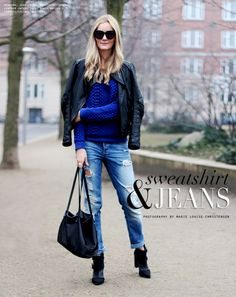 Sweatshirt & jeans - Passions for Fashion