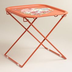 One of my favorite discoveries at WorldMarket.com: Orange Square Metal Accent Table