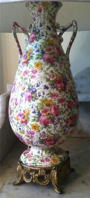 RARE Vintage 1930s Summertime Chintz Lamp Royal Winton Grimwades England WOW | eBay
