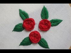 Beautiful Roses Stitches Hand Embroidery - YouTube