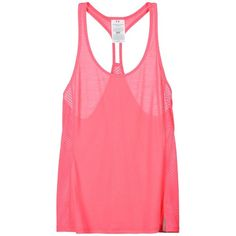 Under Armour Top ($39) ❤ liked on Polyvore featuring tops, fuchsia, under armour, red top, red sleeveless top, under armour tops and fuschia top