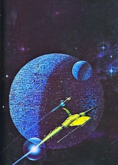 """Painting by Angus McKie from """"Terran Trade Authority Handbook: Spacecraft 2000 to 2100 AD"""" by Stewart Crowley, Ellsworth Kelly, Space Fantasy, Sci Fi Fantasy, Big Dipper, Paintings Tumblr, Psychedelic Space, Perry Rhodan, 70s Sci Fi Art, Star Painting"""