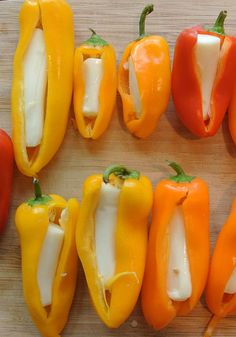 WW String Cheese Snack Ideas: String Cheese Stuffed Mini-Bell Peppers