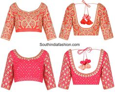 Stone Work Blouse Designs, heavily embroidered latest model blouse designs for sarees, designer blouses