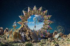 Onirique and Surreal World of Vinicius Costa  Vinicius Costa creates a surreal and onirique universe inspired by mythology and ancient civilizations. In this series he is inspired by Egypt. His unique style influenced groups such as Empire of the Sun (his works here).       #xemtvhay