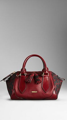 The Small Blaze in Grainy Leather and Animal Print | Burberry