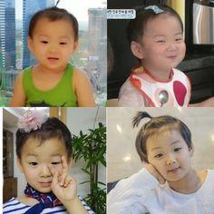 Minguk so funny wearing one of Rohui's stuff. Superman Kids, Song Triplets, Cute Songs, Big Boys, Cute Babies, Korea, Super Cute, Children, Celebrities