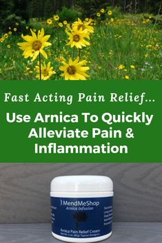 Arnica Infusion -Fast Acting Pain Relief Cream-Arnica Infusion - Fast Acting Pain Relief Cream New Look and Same Great Formula! Arnica Infusion is designed to relieve pain due to sore muscles and joints associated with arthritis, backaches, sprains, Migraine, Herbal Remedies, Health Remedies, Health And Beauty, Health And Wellness, Knee Exercises, Pain Management, Sore Muscles, Health Advice