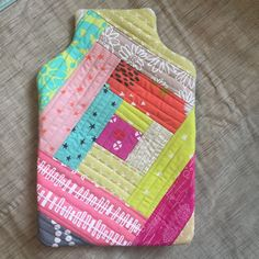 Hot Water Bottle Patchwork Cover / Cozy by IssabellasQuilts