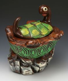Turtle Cookie Jar # 2627 made in USA by California Originals