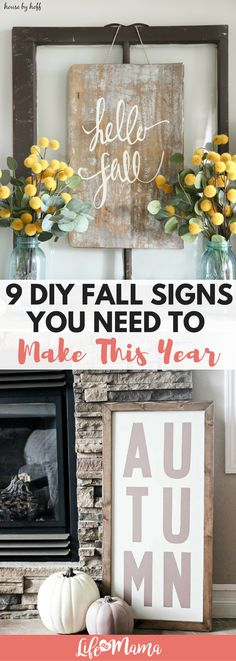 These DIY signs are perfect for Fall!