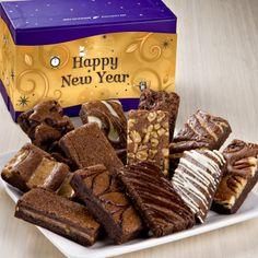 Fairytale Brownies New Year Sprite Dozen - 12 snack-sized gourmet brownies in 12 different flavors. $28.95 Fairytale Brownies, Happy New Year, Fairy Tales, Snacks, Breakfast, Food, Gourmet, Morning Coffee, Appetizers