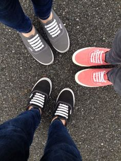 Vans :) me and my friends. Mines the black one. Love the peach ones though