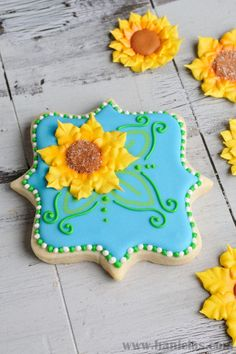 Sunflower Cookies | Cookie Connection