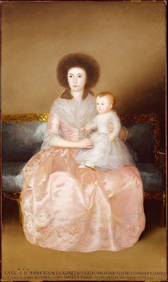 Goya (Spanish, 1746–1828)  Condesa de Altamira and Her Daughter, María Agustina  1787–88