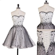 sweet graduation dresses,Strapless Homecoming Dresses, Homecoming Dresses,Summer Dresses