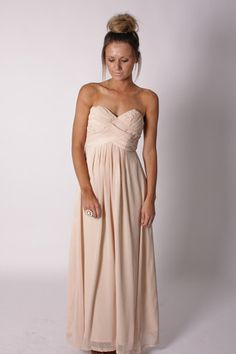 blush chiffon gown-bridesmaids dress?