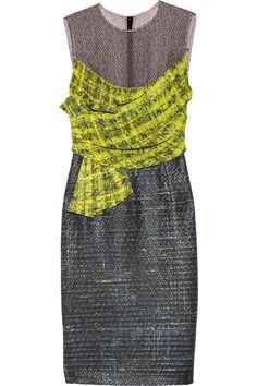 Erdem|Courtney voile and tweed dress|NET-A-PORTER.COM