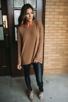 Camel Cage Back Sweater - Dottie Couture Boutique