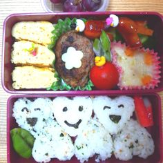 Heart mark bento  for my daughter❤