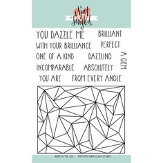 """Neat & Tangled Clear Stamps 6""""x8"""" - Faceted"""