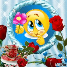Good Morning Smiley, Good Morning My Love, Good Morning Picture, Emoji Images, Emoji Pictures, Kiss Emoji, Funny Emoji Faces, Animated Emoticons, I Love You Images
