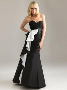 012 Style Sheath / Column Sweetheart Beading Sleeveless Floor-length Taffeta Black Prom Dress / Evening Dress  Item Code: D002221  Listing price: $154.43    Now $138.99
