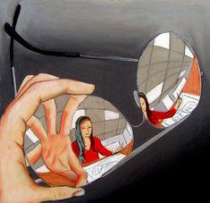 glasses/reflections